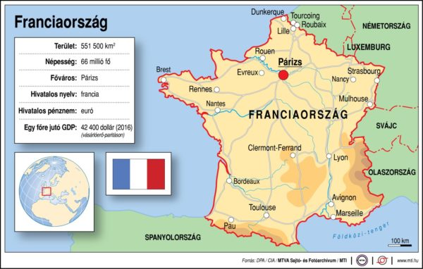 Földrajzóra: Franciaország