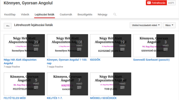 Nyelvtanulás és a Youtube #1