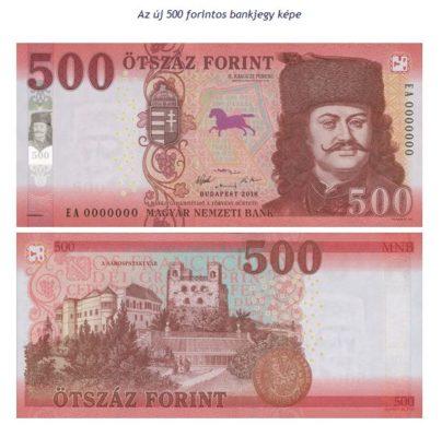Megújulnak az 500 forintos bankjegyek