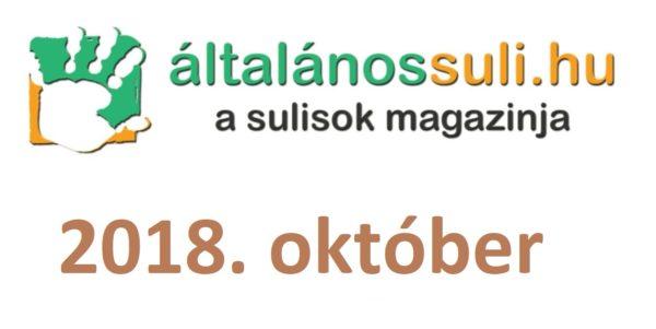 Visszatekintés: 2018. október